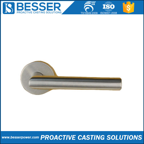 4Cr13 stainless Q235 cast iron 40Cr steel metal casting and mass production heat resistant door handle cover