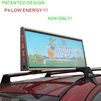 latest Outdoor waterproof High Brightness 3G/wifi Wireless Taxi Roof LED Displays P5
