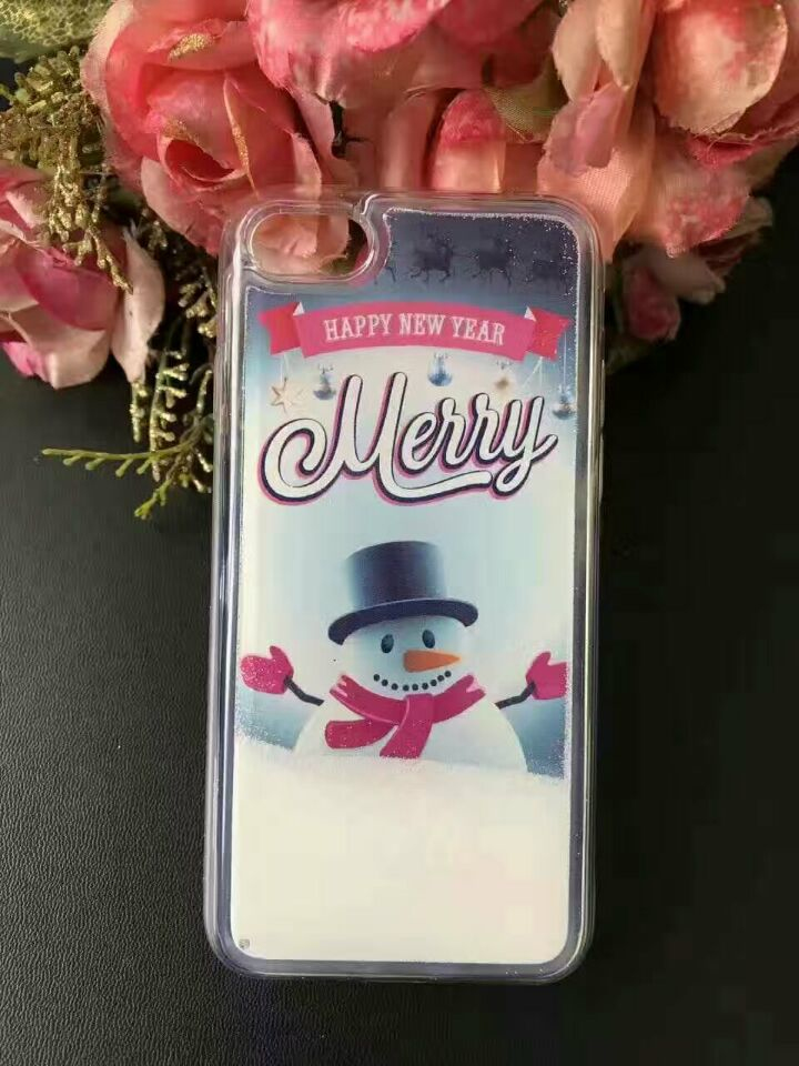 Hot Selling Liquid Soft Material Fashion Christmas Case for Samsung Galaxy S3