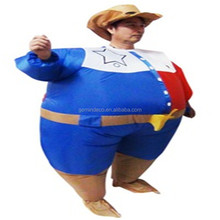 Inflatable character costume cowboy boots men suits bachelorette party game