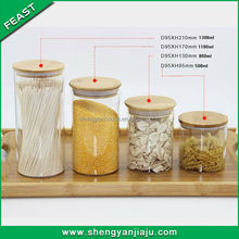 big belly mini clear glass spice jar with clamp lid