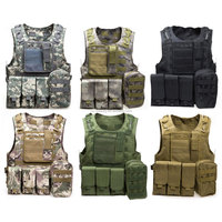 Outdoort Hunting Fishing Accessories Camouflage Vest Amphibious Multi Pockets Military Tactical Airsoft Molle Plate Carrier