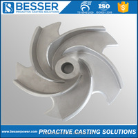 316/304 Stainless Steel Water Pump Impeller Parts Casting Custom Lost Wax Precision Investment Pump Casting Parts Foundry