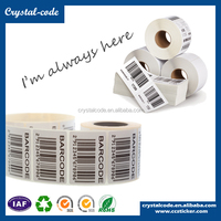 Die cut barcode paper perforated barcode label
