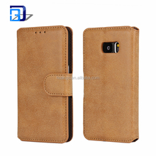 Mobile Phone Accessories Vintage Magnetic Flip PU Leather Case with Stand Wallet Card Slot Protective Cover For SAM Galaxy S7