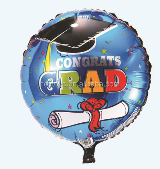 Congratulation Graduate Gift Hat Off Foil Balloon