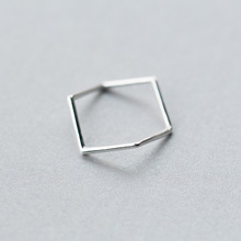 Elegant fashion jewelry Wholesale Adjustable 925 Sterling Silver Open Ring