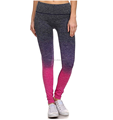 Womens gradient color sexy seamless yoga legging