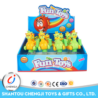 Cheap Promotional bulk plastic deer candy wind up toys