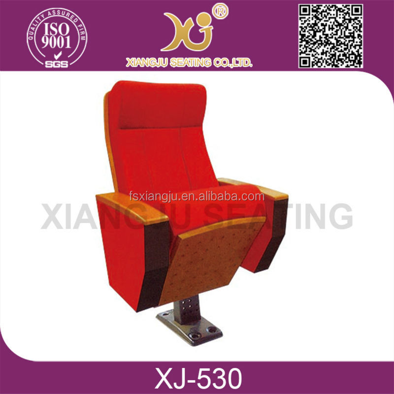Hot sale upholstery folding conference chair auditorium with table XJ-530