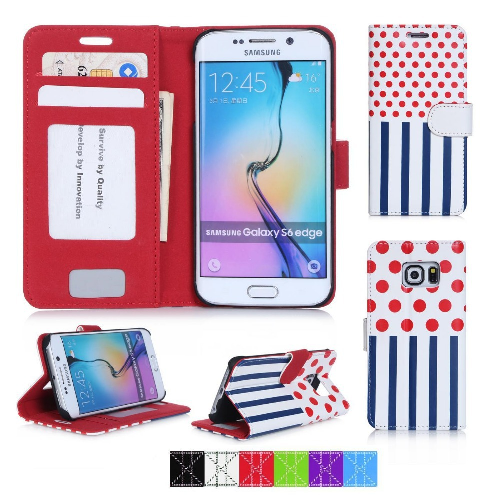 Fancy Wallet Phone Case Custom Solid Mobile Phone Case For Samsung S6