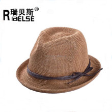 cheap custom made fedora hats wholesale promotional knitting straw hat