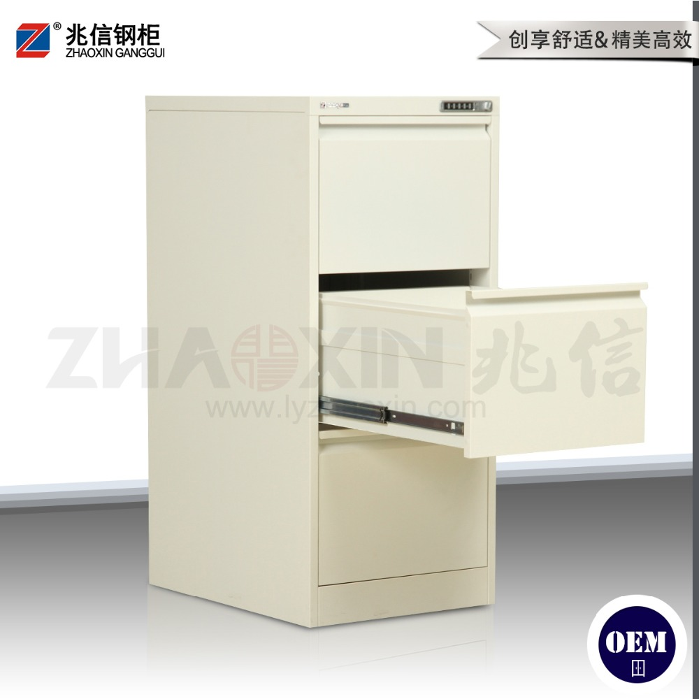 vertical 3 drawer code lock steel commercial furniture cabinet