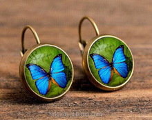 Time Gem Single Stone Earring Designs Butterfly Dangle Big Round Earring