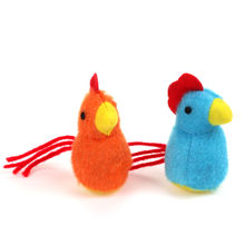 Promotional good price chicken pet plush toy for cat play plush yellow chicken toy