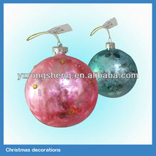 2014 hot selling hand-painted christmas glass ball