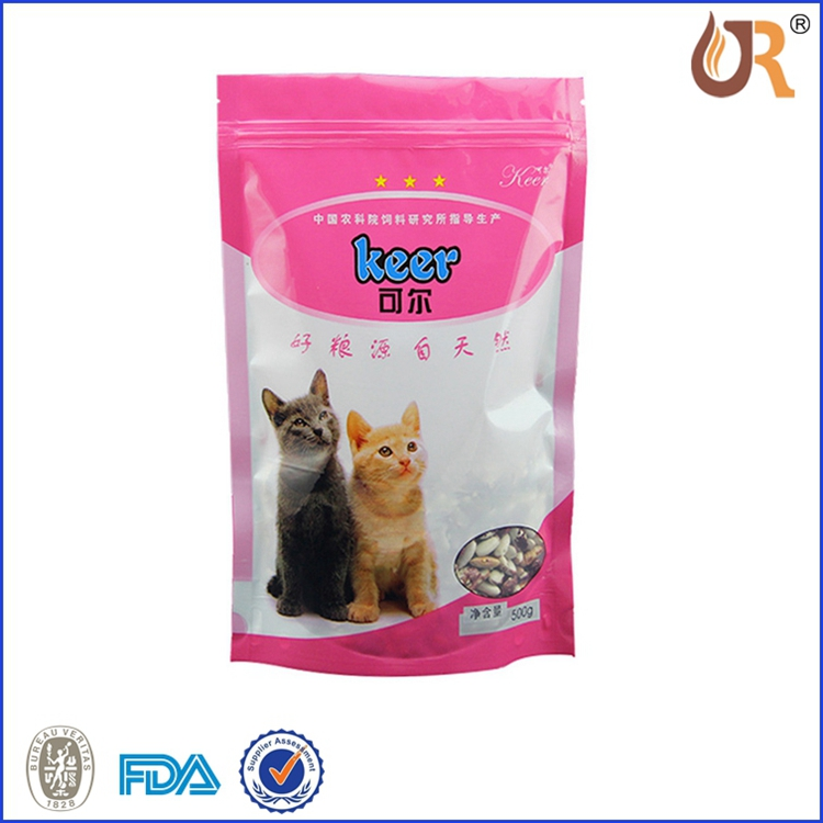 500g plastic dog treats packaging bag foil lined stand up ziplock pet dog food pouches