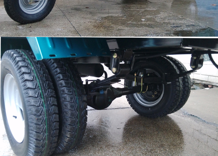 heavy loading water cooled scooter cargo tricycle with five wheel