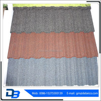 Shingle Stone coated metal roof tile/durable and sun stone coated metal roof tile