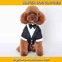 High quality wholesale cool doggie nobility prince formal wear dog business suit winter dog clothes for wedding partyDC-DW-25