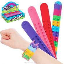 silicone pvc material spiky reflective snap on bands