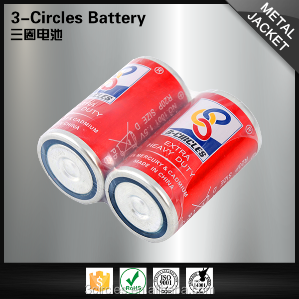 Safety R20P zinc carbon 1.5v D size professional battery manufacture
