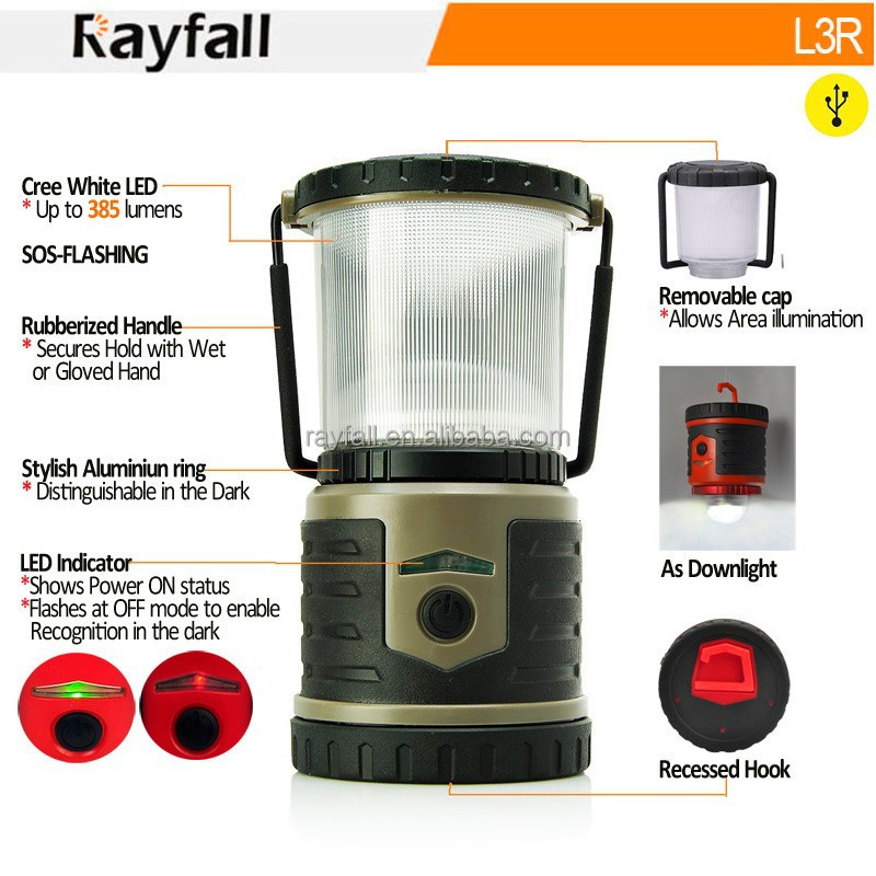 Factory OEM outdoor waterproof rechargeable camping lantern led with private label