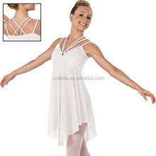 MB2015248 Adult white beautiful leotard romantic ballet dance dress