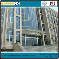 point-fixed glass curtain wall for building with all accessories/one-stop curtain wall solution GM-LP116