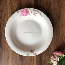 High Quality 6/7/8/9/9.25/10 Inches White Round Porcelain Soup Plate