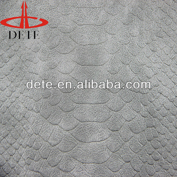 embossed snake skin leather, pu leather for ipad case