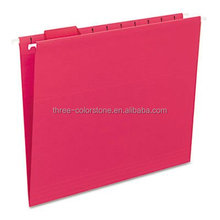 Paper Suspension File Folders, file with steel hanger folders, 25/box, Red