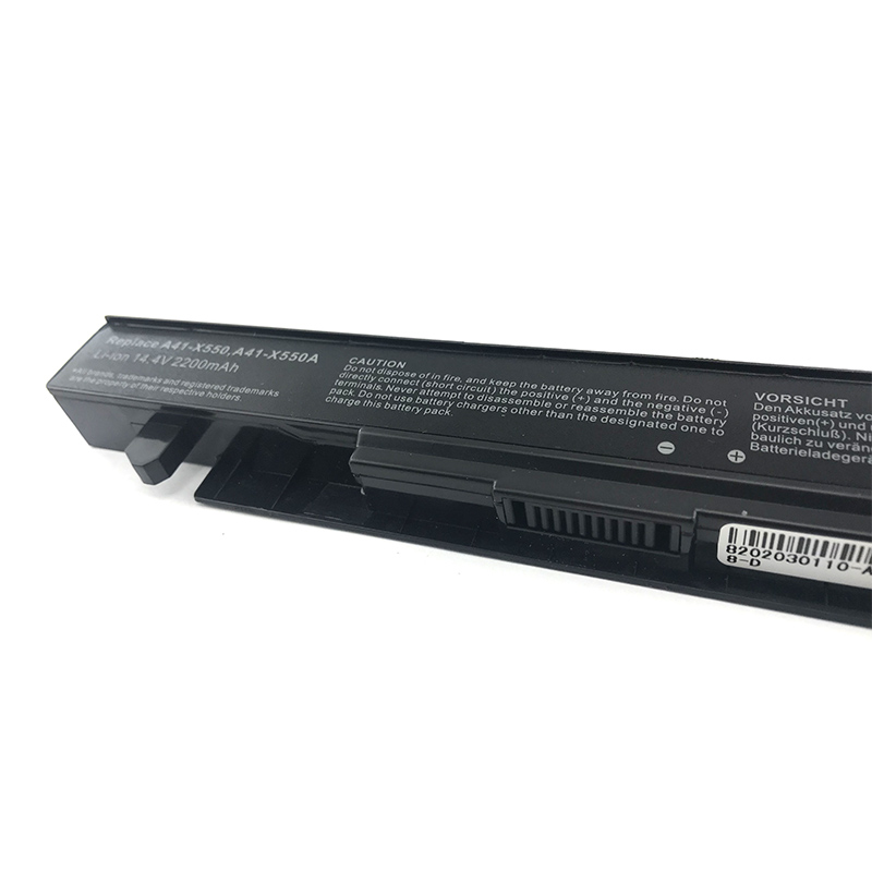 Factory 14.8v 2200mah rechargeable laptop battery A41-X550 for asus X450 A550 R409 F552 R510