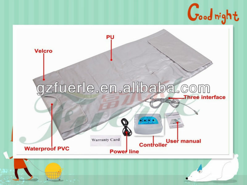 2014dubai wholesale market Fuerle top PU leather infrared sauna blanket made in China