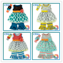 2015 Hot Sale Cheap Newborn Baby Clothing Set Summer Teen Girl Clothing Set Cotton Frock Design For Baby Girl