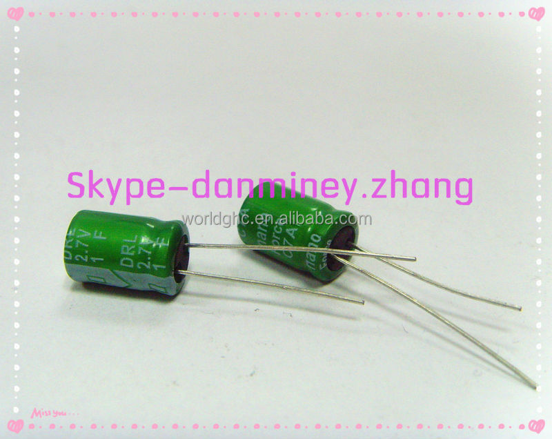 super capacitor 2.7V 1F graphene capacitor 1farad capacitor for electric torch 2.7v with heavy load discharge performance