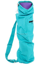 Cotton Canvas Yoga Mat Bags Wholesale with Outside Full Zipper Pocket