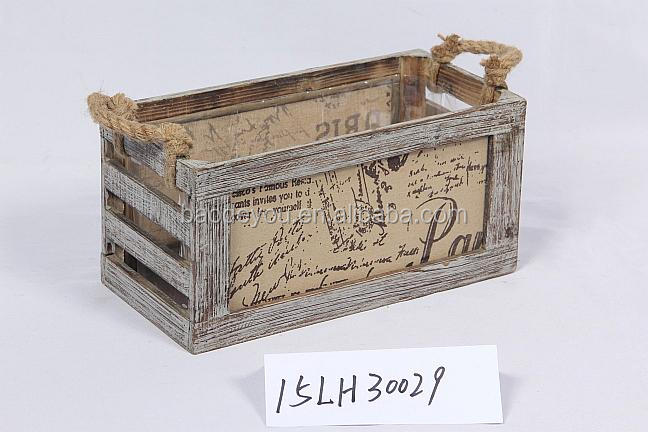 home decoration handmade vintage wood crate