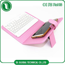Universal bluetooth keyboard leather case fit for 4.2-6.8inch mobile phone