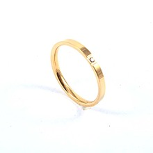 Hot trend jewelry 2015 Christmas simple desgin gold ring designs for girls