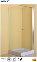 3 sided spare parts plastic shower enclosure cubicle