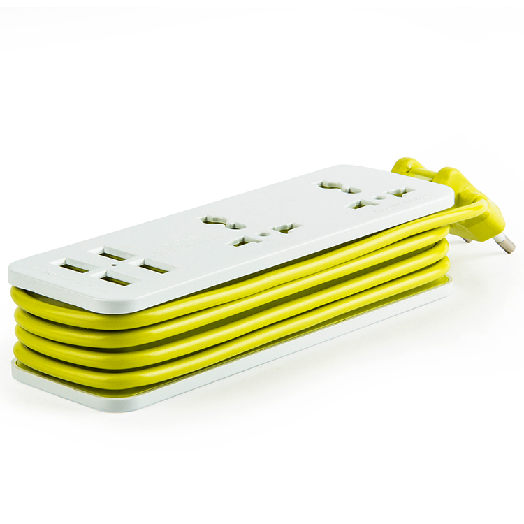 2 Gang 4 USB Multifunctional Power Extension Trip Socket