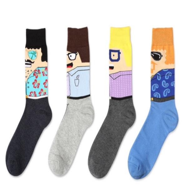 2017 Hot Sell Cartoon Tube Socks Men