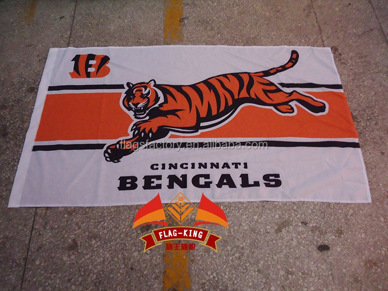 NFL new design Cincinnati Bengals flag,Rugby club fan NHL banner, flag king 90*150CM polyester, Cincinnati Bengals