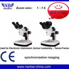 High eye point large field stereo microscope led ring light