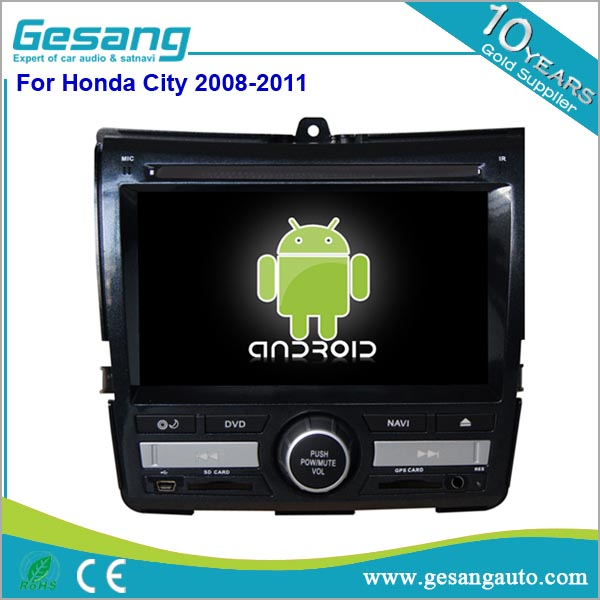 NEWNAVI car Multimedia system 7'' double din car dvd for HONDA City 2008-2011 car GPS Navigation System