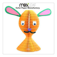 colorful vase shape honeycomb paper hat