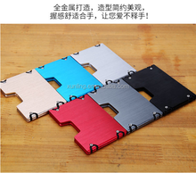 RFID Blocking Aluminum Auto Pop-up Card Case anti scan card holder Leading manufacture