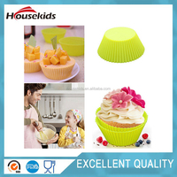 Multi-color Silicone Cake muffin Cupcake Mold Round Shape Baking Mould