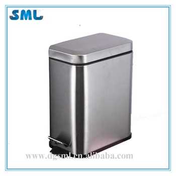 High quality 5 Liter stainless steel trash bins trash cans dustbin